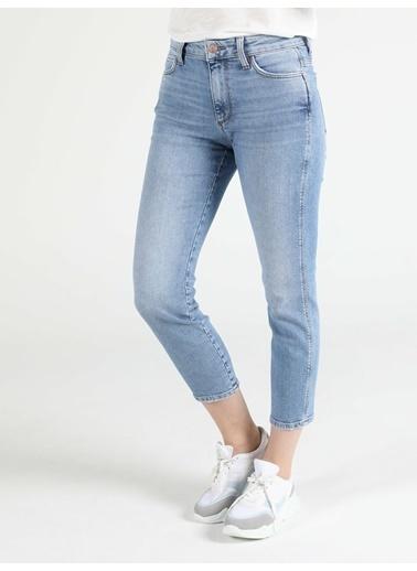 Colin's Colin'S 891 Maya Slim Fit Daralan Paça Yüksek Bel Kadın Jean Pantolon Lacivert